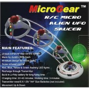 Microgear EC10184 Micro RC UFO Flying Saucer - Random Color