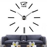 home decor quartz diy wall clock clocks horloge watch living room metal Acrylic mirror 20 inch (?Black color)