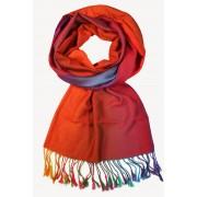 Rainbow - elegantní šála červená