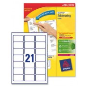 L7160 Avery Laser Labels 21 per Sheet - 500 Sheets