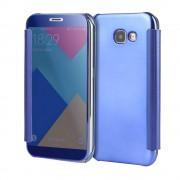 Samsung Galaxy A5 (2017) Doorzichtige Window View Book Case - Donker Blauw