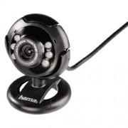 """Hama Webcam per PC """"AC-150"""", USB, 6 led, Hama suite, nero"""