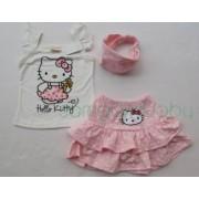 Set haine vara fete Hello Kitty cu fustita