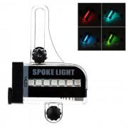 32-Pattern 14-LED RGB Colorful Light Bicycle Bike Wheel Decoration Lamp - Black + White (1 x AAA)
