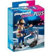 PLAYMOBIL Fireman with Hose Building Kit