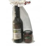 Lote vino Mayoral con combinación de tarros gourmet para regalar