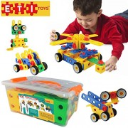 Educational Toys Construction Engineering Blocks By ETI Toys for Boys and Girls 85 Piece Set for Building Endless Combinations! Great for Learning & Having Fun Build Your Imagination Today! by ETI Toys