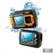 """Easypix W1400 """"Active"""" Orange vízálló digitális fényképezőgép 2 képernyővel (narancs)"""