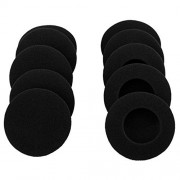 """10 Pairs 60mm/2.4"""" Replacement Foam Ear Pud Earpads Sponge Cushion Covers for Logitech H600, H330, H340 / Sony MDR-G45LP,MDR-G55LP ,MDR-G410LP, MDR-G101LP, MDR-G42LP, DR-220DPV, MDR-G45 ,IF240R,SRF-HM33, MDR-027 ,MDR-222 ,SRF-H4,MDR-NC5 ,MDR-NC6s,MDR-023"""