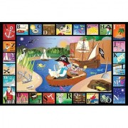 White Mountain Puzzles ABC Pirate Cove - 24 Piece Jigsaw Puzzle