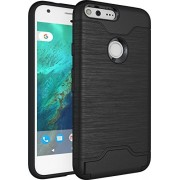 Quicksand Google Pixel XL Cover, Defender 2 Rugged Armor Shock Proof Neo Hybrid Dual Layer Back Cover for Google Pixel XL - Black