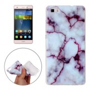 For Huawei P8 Lite Purple Marbling Pattern Soft TPU Protective Back Cover Case