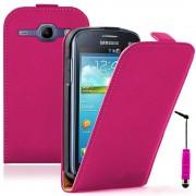 Galaxy Trend Lite S7390/ Galaxy Fresh Duos S7392 Samsung: Housse Coque Etui Cuir Fine Slim+ Stylet- Rose