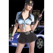 Erotický kostým přísná policistka