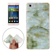 For Huawei P8 Lite Green Marbling Pattern Soft TPU Protective Back Cover Case