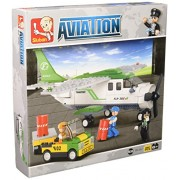 Sluban Building and Construction Blocks M38-B0362 C Mini Transport Plane Building Block Construction Set (251 Piece)