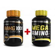 BioTech USA AAKG 1000 (100 tbl) + Mega Amino 3200 - 100 tab.
