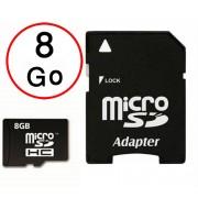 Lenovo Moto G5 Plus Carte Mémoire Micro-SD 8Go + Adaptateur de qualité by PH26®