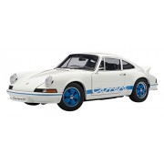 PORSCHE 911 CARRERA RS 2.7 1973 WHITE WITH BLUE STRIPES Diecast Model Car in ... (japan import)