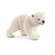Figurina Animal Pui de urs polar mergand