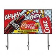 Cabideiro Coca Cola Splash Vintage Grande Cabideiro Coca Cola Pop Art Vintage Grande