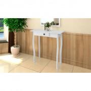 vidaXL Biely stolík v chatovom štýle