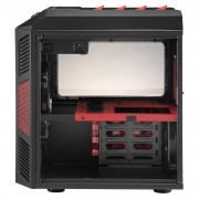 Boitier HTPC Chassis Cube Aerocool Xpredator logement Micro-ATX - noir/rouge