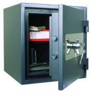 Seif certificat EN 1143-1,ASG/46, antiefractie, cheie, antifoc, 460 x 440 x 440 mm