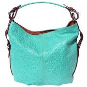 Florence Leather Market Borsa a spalla in pelle stampato con la tracolla amovibile (3012s)