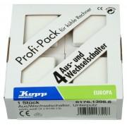 Kopp 617613086 - Interruttore universale Europa, confezione professionale da 4 pezzi