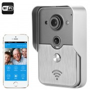 Interphone vidéo Capteur CMOS 1/4 pouce / Compatible iOS + Android / Vision nocturne / POE / Détection de mouvement PIR