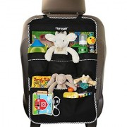 Premium Backseat Organizer for Kids Cars - Large Size FREE e-book #1 Kids Accessories Car Seat Protector-Kick Mat M