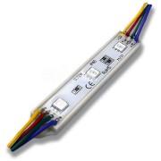 LED svetelný modul RGB3, 0.8W, 60lm, IP65, 12V