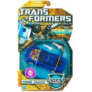 Transformers Reveal The Shield Series Deluxe Class 6 Inch Tall Robot Action Figure - TURBO TRACKS with 2 Converting Blasters (Vehicle Mode: Sports Car)