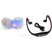 CLONEBEATZ Music Mini Bluetooth Speaker(S10 Speaker) And Bluetooth Headset (BS19C Headset) for GIONEE ELIFE E5