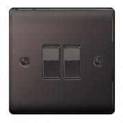 Nexus RAISED BLACK NICKEL- 2G 2-WAY SWITCH