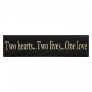 Afbeelding Two Hearts - zwart, My Flair