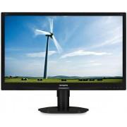 "Monitor TFT LED Philips 22"" 220S4LYCB/00, 1680 x 1050, VGA, DVI, DisplayPort, 5 ms (Negru)"