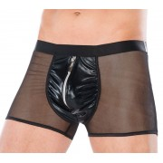 Andalea Net & Zipper Boxer Brief Underwear Black MC-9060