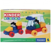 Peacock Kinder Blocks Car Set Block Bluilding Game Set For Kids