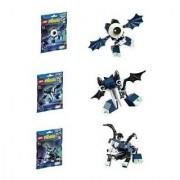 Lego Mixels Series 4 Bundle Set Of Glowkies Globert (41533) Vampos (41534) Boogly (41535)