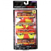 Jakks Pacific Year 2013 Power City Trains Series 4 Pack Train Accessory Set - Sueper Bros. Big Top CIRCUS FREIGHT with 2