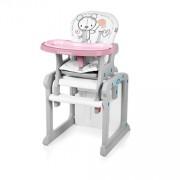 Baby Design Candy 08 pink - scaun de masa multifunctional 2 in 1