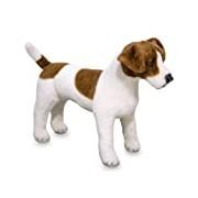 Melissa & Doug Giant Jack Russell Terrier - Lifelike Stuffed Animal Dog (over 30 cm tall)