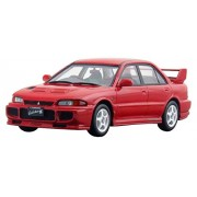 1/43 Scale Mitsubishi Lancer Gsr Evolution Iii (1995) Monaco Red Complete Resin Plastic Model Character Figure Race Super Car Rally Formula Vehicle Toy Table Decor Grand Tourer Touring Hi Story