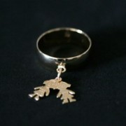 Ring Plated Jewelry Semi Two Daughters / Girl and Girl