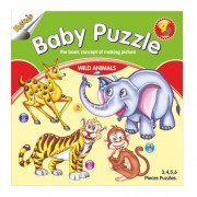 Ratna's educational pack of 8 baby jigsaw puzzle farm animal , wild animal ,fruits , vegetables, aqua animals, transport , birds and flowers for kids to learn all the essential things of life together