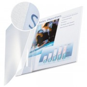 Copertine flessibili con fronte trasparente Esselte 10-35 ff bianco avorio 73980001 (conf.10)
