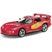 Kinsmart - Dodge Viper GTS-R Die-Cast with Openable Doors Pull Back Action 136 Scale (Red)