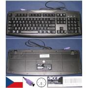 Clavier/Keyboard Qwerty Tchèque / Czech Pour SK-1688 SK1688, KB.6880B.074, KB6880B074, Port connecteur/ connector PS2, Noir / Black